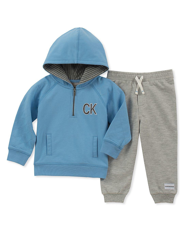 Baby Boy's Two-Piece Quarter-Zip Hoodie & Sweatpants Set