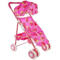 Children's Toy Pink Strawberry Baby Stroller for Baby Dolls