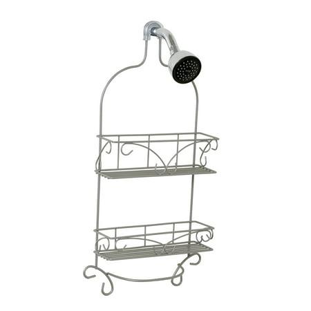 Zenna Home Scroll Shower Caddy, Satin Nickel Nickel Satin Shower Caddy