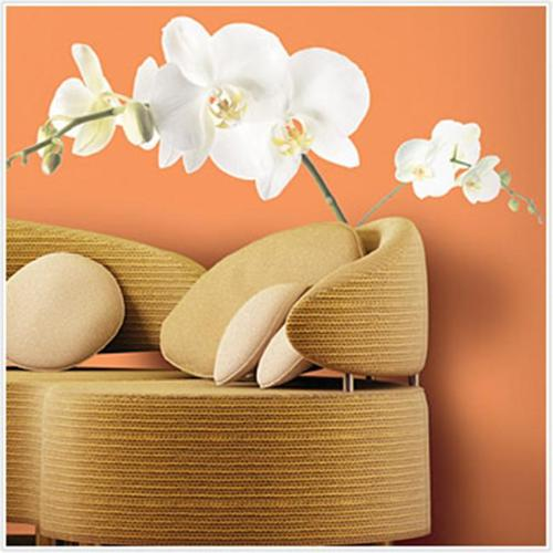 Roommates RMK1315GM White Orchid Peel & Stick Appliques