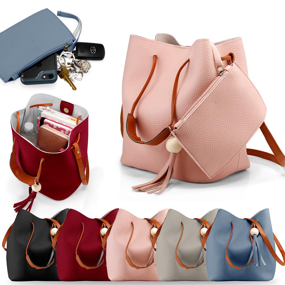 98487236610b Fashion Tassel buckets Tote Handbag Women Messenger Hobos Shoulder ...