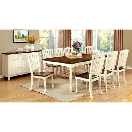 Furniture Of America Besette Cottage  Piece Dining Table Set - Walmart dining table set