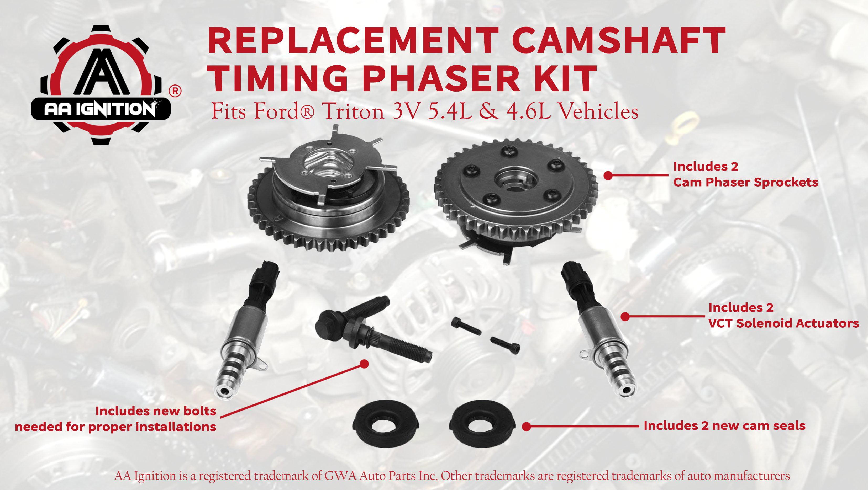 Variable Camshaft Timing Cam Phaser Kit Replaces 3r2z6a257da 917 250 3l3z 6279 Dap 8l3z 6m280 B Fits Ford F 150 Expedition More Triton