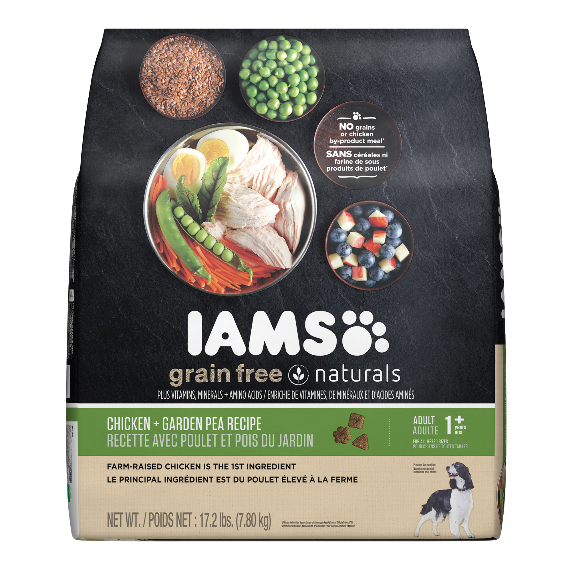 IAMS GRAIN FREE NATURALS Adult Dog Chicken and Garden Pea Recipe Dry Dog Food 17.2 Pounds