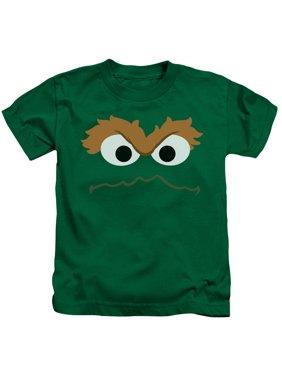Sesame Street - Oscar Face - Juvenile Short Sleeve Shirt - 5/6
