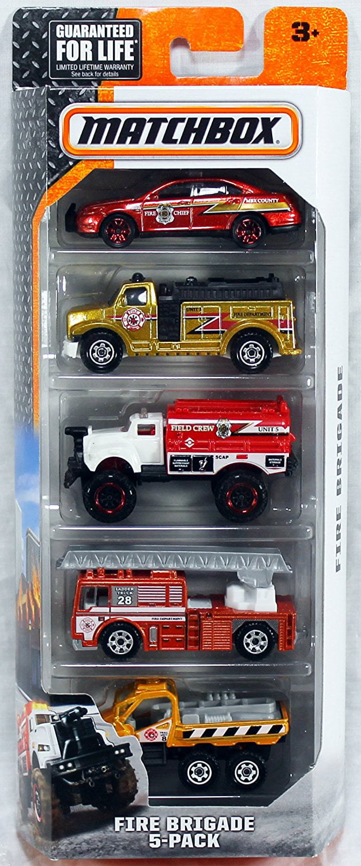 Matchbox 2016 Fire Brigade 5-Pack by Mattel