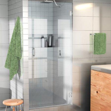 Glass Warehouse 28 X 78 Hinged Frameless Shower Door Walmart