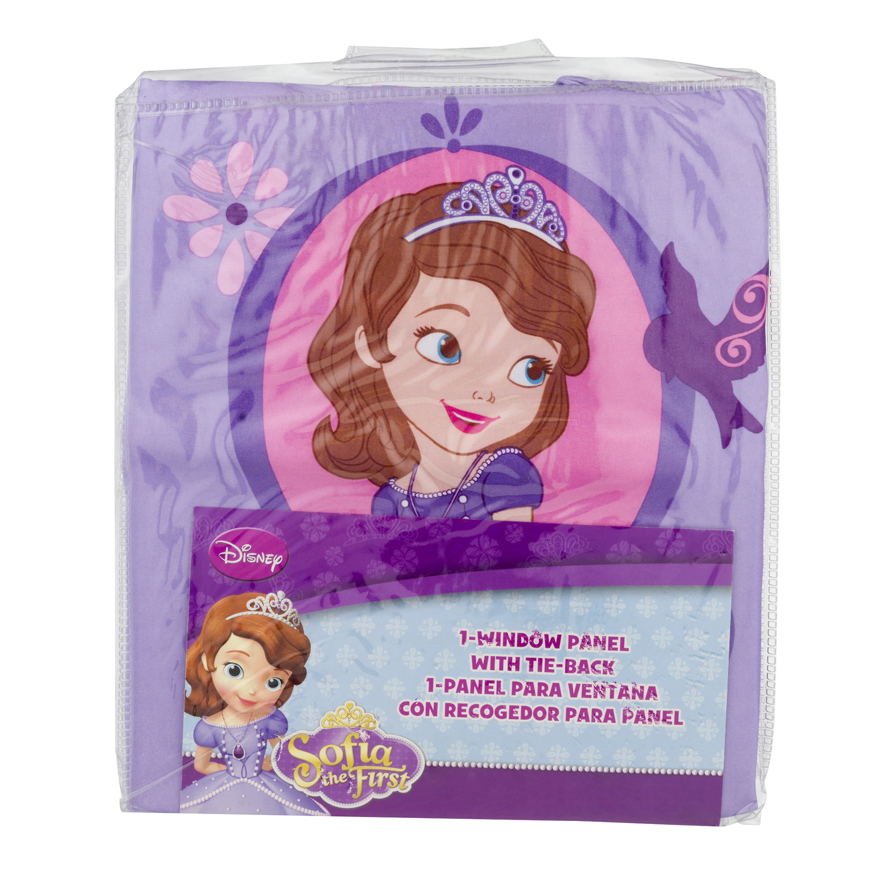 Disney Sofia Tiara Girls Bedroom Curtain Panel