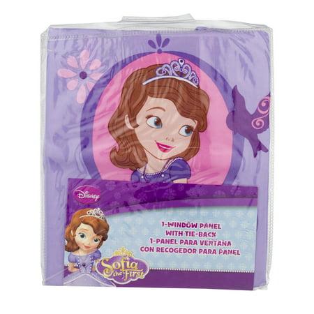 Disney Sofia Tiara Girls Bedroom Curtain Panel