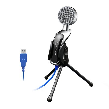Alloet Professional Condenser Sound Podcast Studio Microphone for PC Laptop Skype