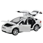 Diecast Toy 1:32 Scale Alloy Cars for Tesla Toy Model SUV Car Sound & Light Toy Kids Toys
