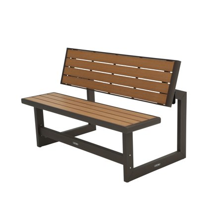 Lifetime Outdoor Or Indoor Convertible Patio Bench To Picnic Table Mocha Brown