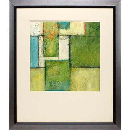 Abstract Space Art (North American Art N1764 26 x 30 in. Green Space II Framed Abstract & Contemporary Art Print )