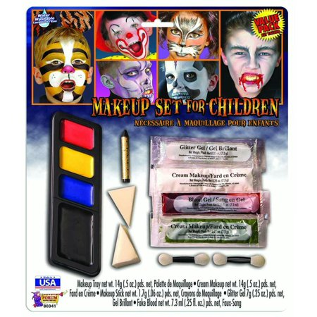 Child Face Paint For Halloween (Costume Makeup Set Halloween Face Paint Disguise For)