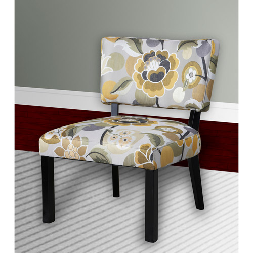 Floral Print Accent Chair, Multiple Colors
