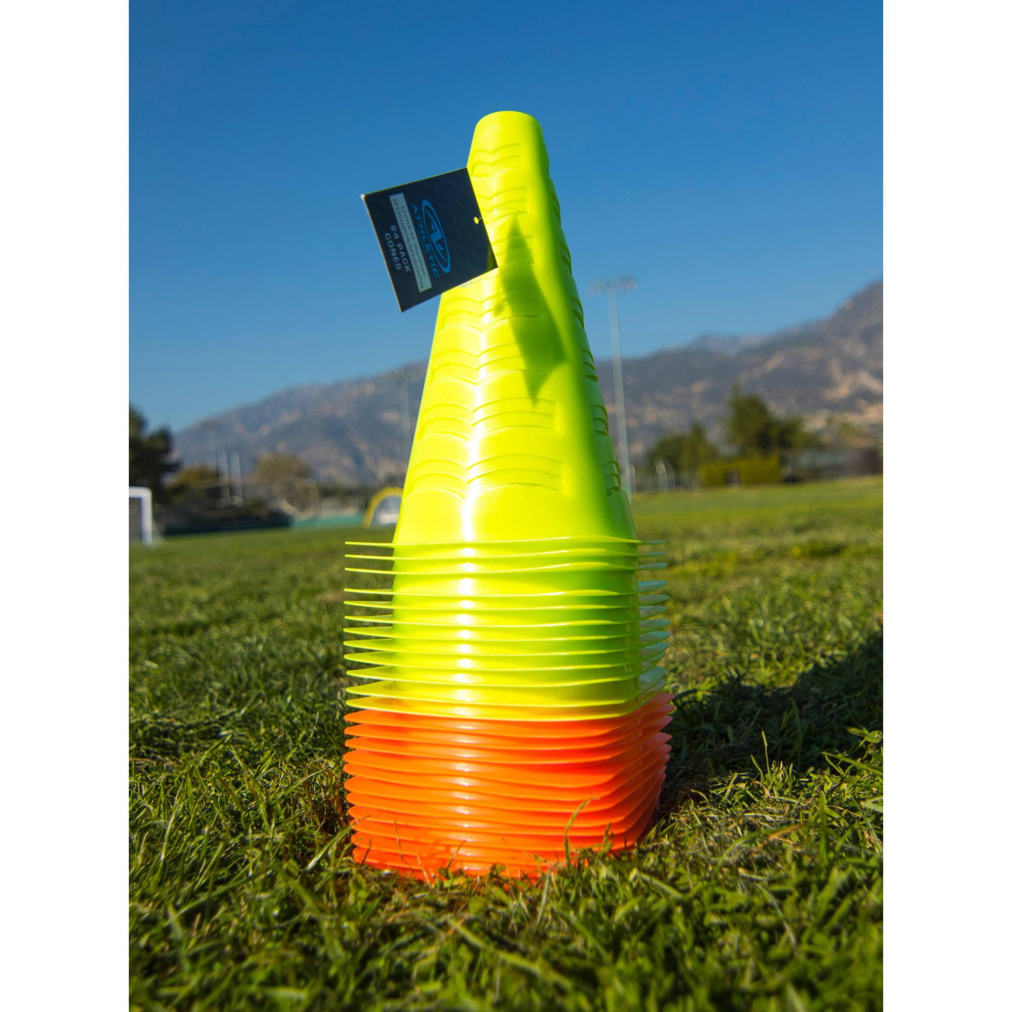 Athletic Works Cones, 24-Pack