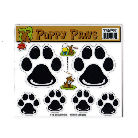 """Magnet Variety Pack (6 Magnets) - Dog Paws (Puppy) - Refrigerators, Cars, Mailboxes, Decoration - 1.25"""" x 1.25"""" and 2.25"""" x 2.25"""" (Each Paw)"""