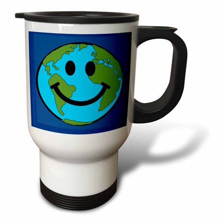 3drose Planet Earth Smiley Face Happy World Globe Earth Day