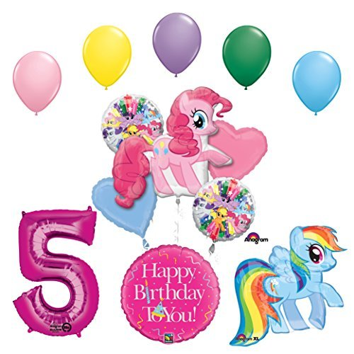 My Little Pony Pinkie Pie and Rainbow Dash 5th Birthday Party Supplies