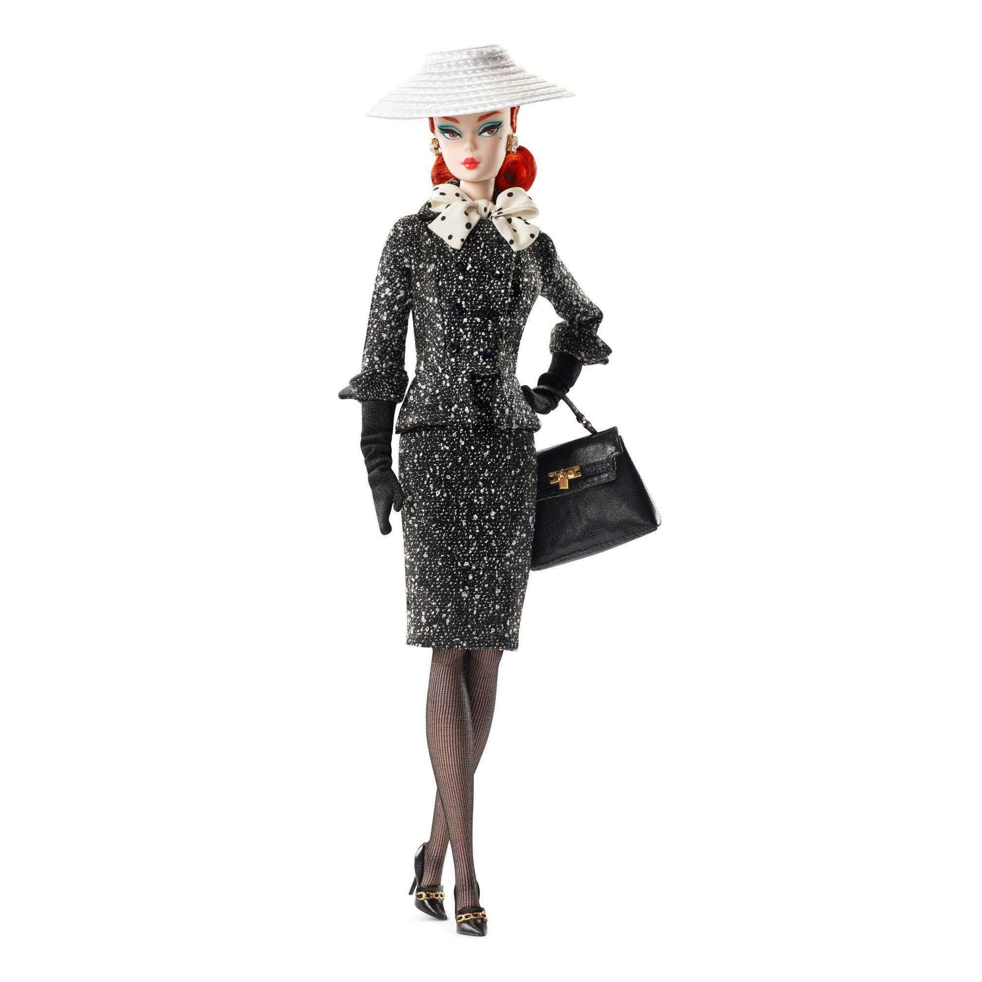 Barbie Collector Barbie Fashion Model Collection Black & White Tweed Suit Doll by Mattel