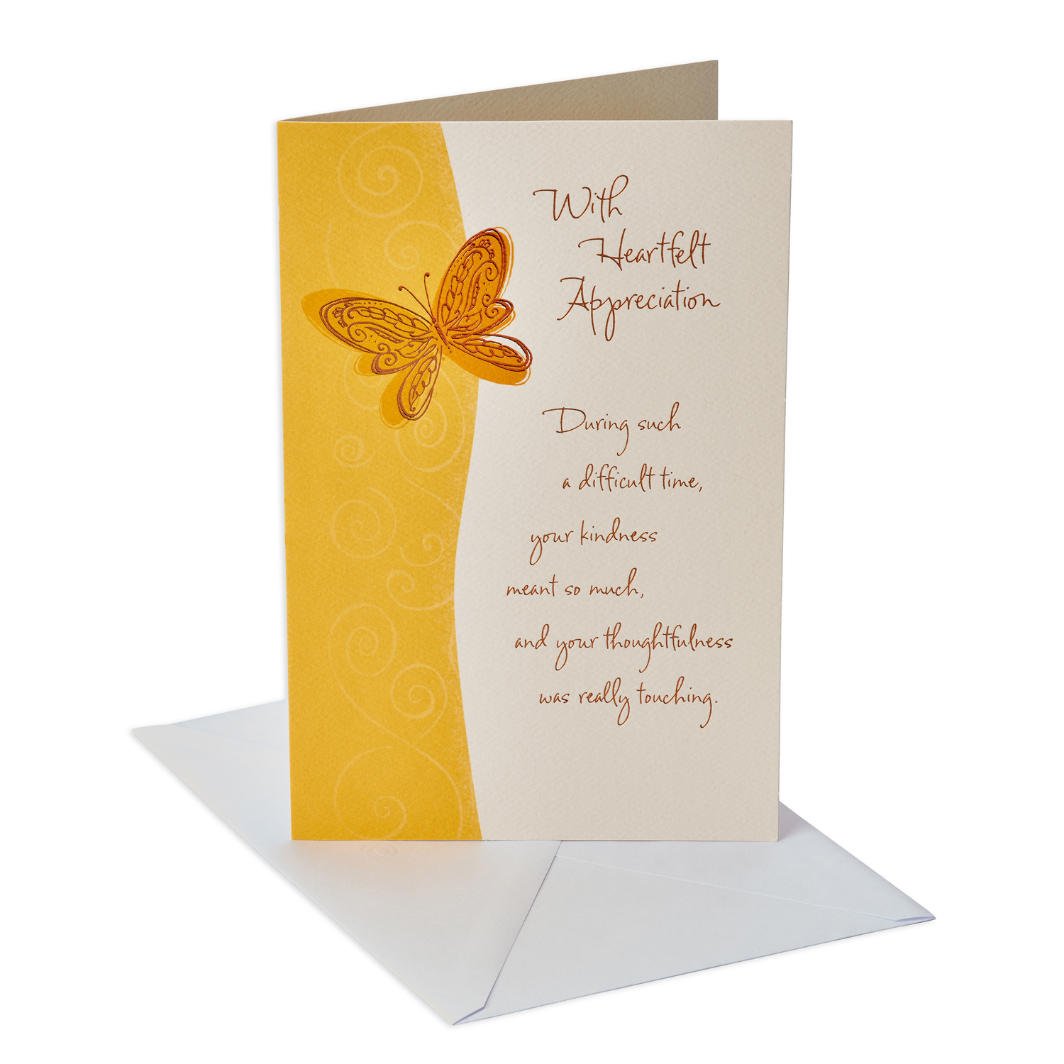 American Greetings Sympathy Appreciation Thank You Card With Foil