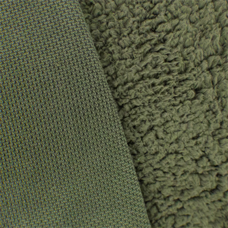 Army Green Sherpa Fleece, Fabric By the Yard