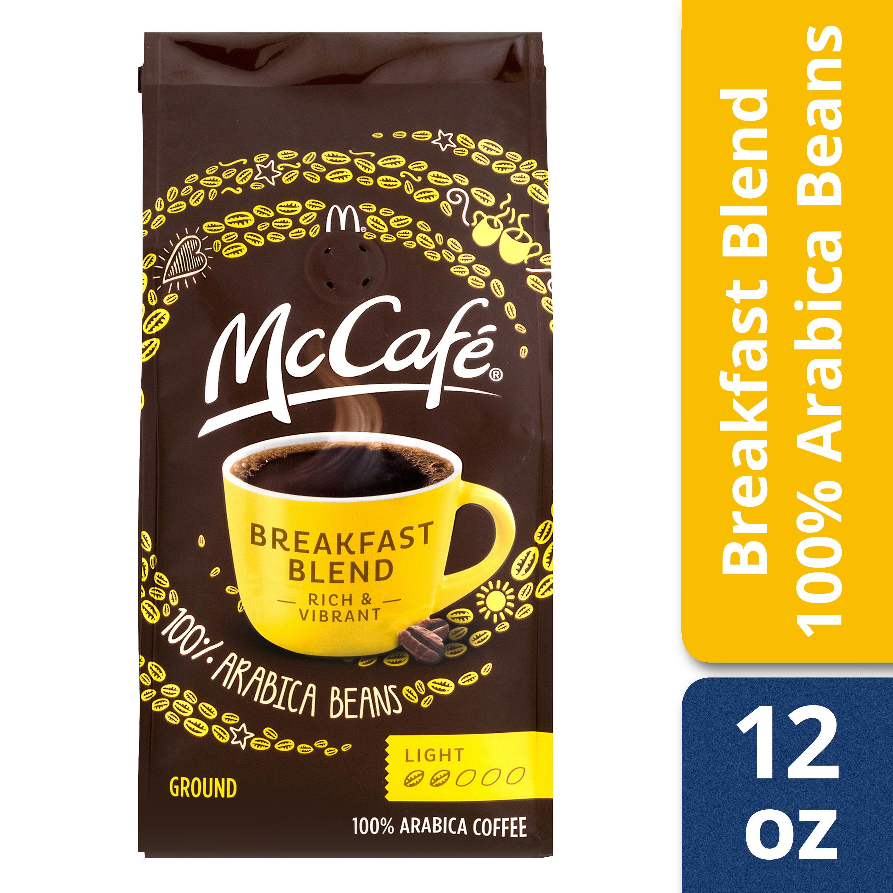 McCafé Breakfast Blend Ground Coffee 12 oz Canister