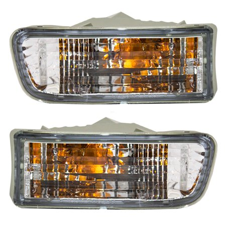 Driver and Passenger Park Signal Front Marker Lights Lamps Lenses Replacement for Toyota SUV 81520-35250 81510-35260 ()