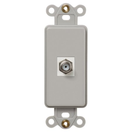 Single Coax Rocker Data Insert Wallplate Gray