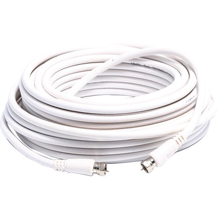 Camco 64761 White RG-6 50' Coaxial Cable for RV Satellite Cable TV ()