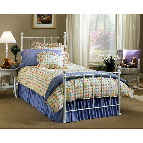 Hillsdale Molly Twin Bed with Bed Frame, White
