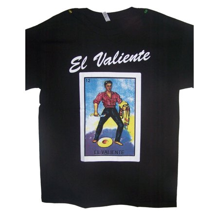 - El Valiente Lottery T-Shirts  Loteria T-Shirts Mexican T-Shirts US Screen Printed - Medium - Gifts  (MXTS309*)