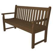 """60"""" Recycled Earth-Friendly Sand and Sea Outdoor Patio Garden Bench - Raw Sienna"""