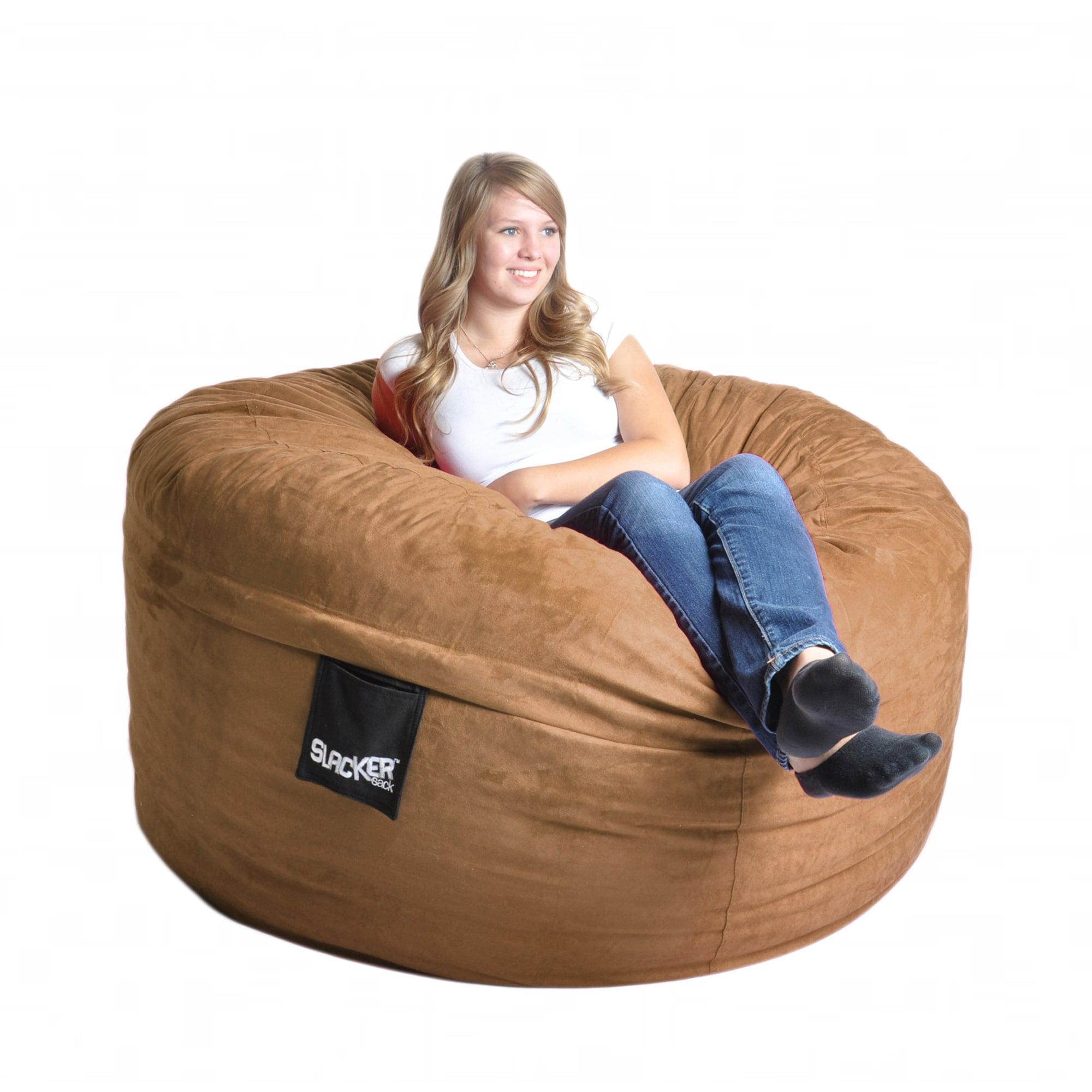 Slacker Sack Earth Brown Microfiber and Foam 5-foot Bean Bag