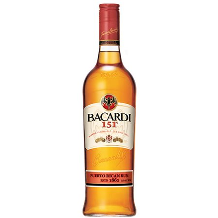 Bacardi 151 Dark Rum, 750 mL