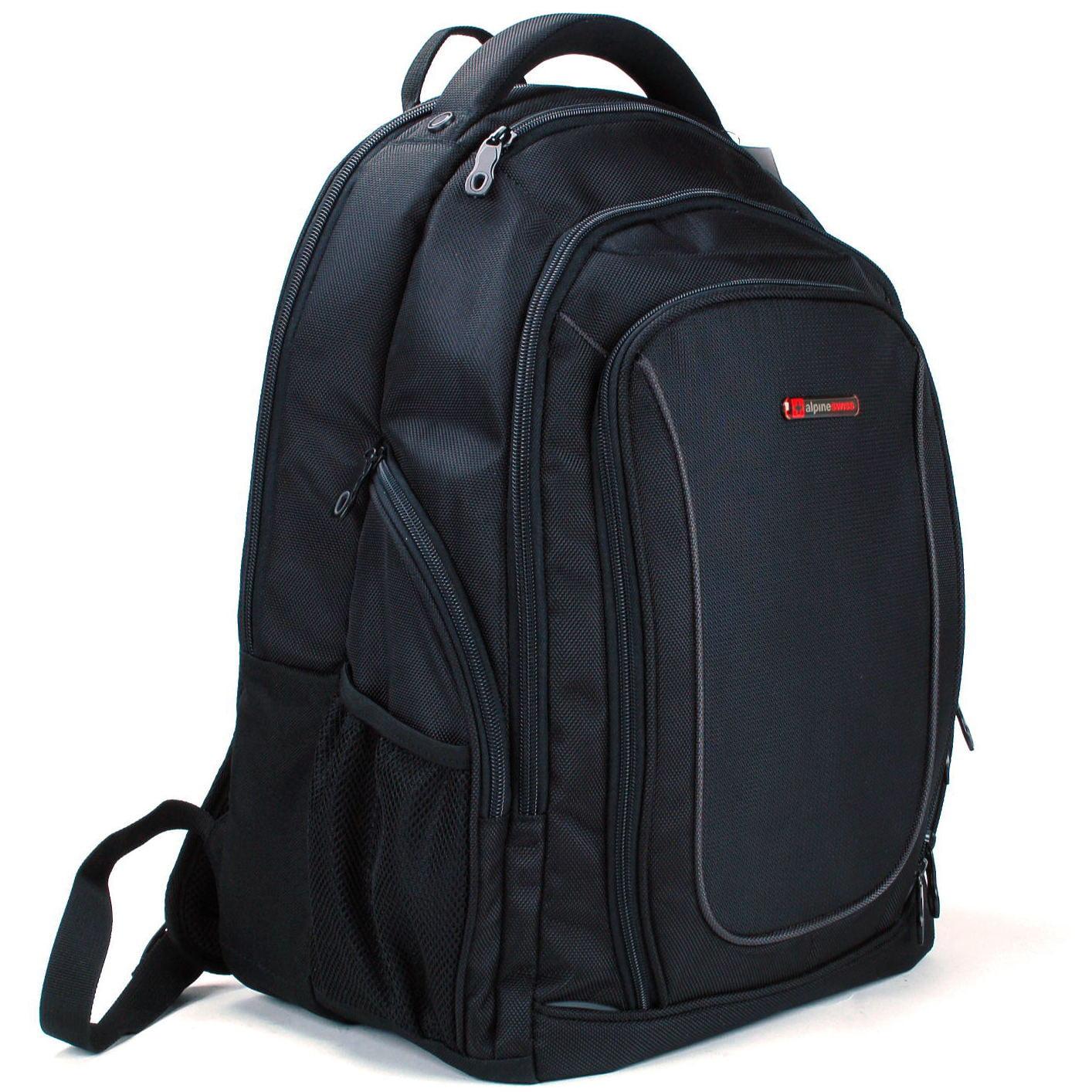 "Alpine Swiss 15.6"" Laptop Backpack Book Bag Notebook Case Computer Back Pack NEW"