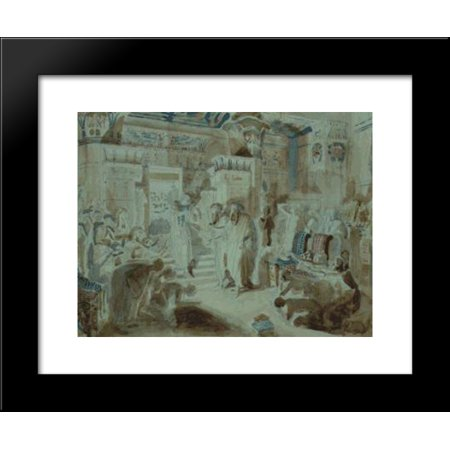 Pharaoh Asked Moses To Bring Jewish People Out Of Egypt 20X24 Framed Art Print By Alexander Ivanov