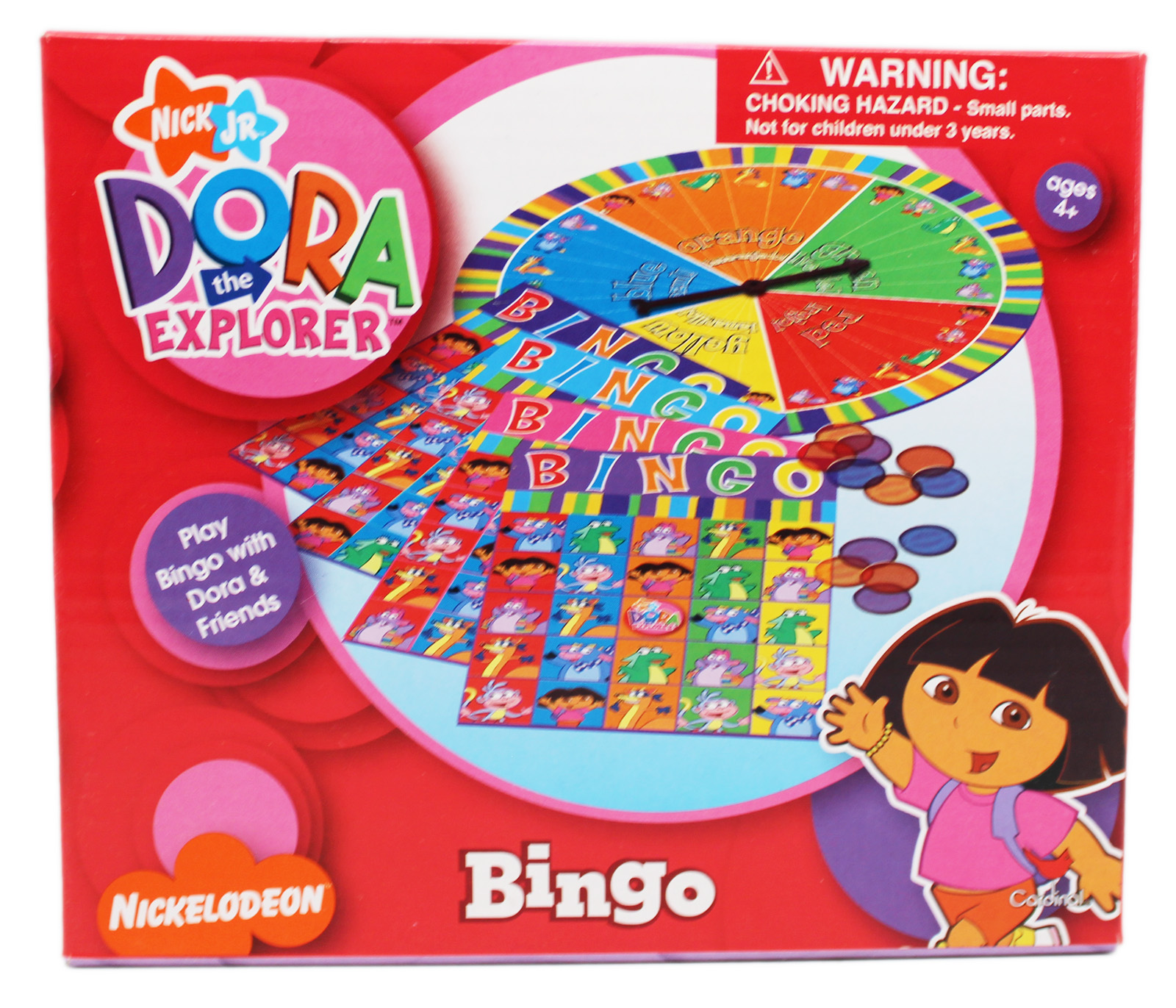 Dora the Explorer Kids Wheel Based Bingo Set (4 Player) by