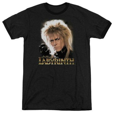Labyrinth Jareth Mens Adult Heather Ringer - Labyrinth Jareth Costume