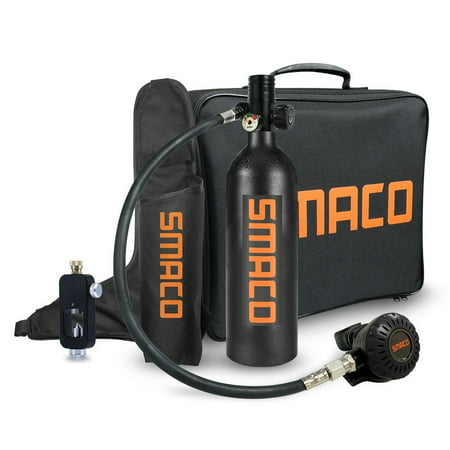 SMACO 1L Mini Scuba Diving Equipment Oxygen Cylinder Air Tank Oxygen Tank Set Kit