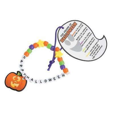 IN-13778592 Happy Halloween Pony Bead Bracelet Craft Kit