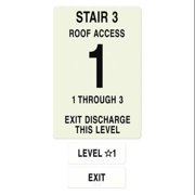 INTERSIGN NFPA-PVC1812-X(31A3) NFPASgn,StairId3,FlrLvl1,Flrs Srvd1 to 3