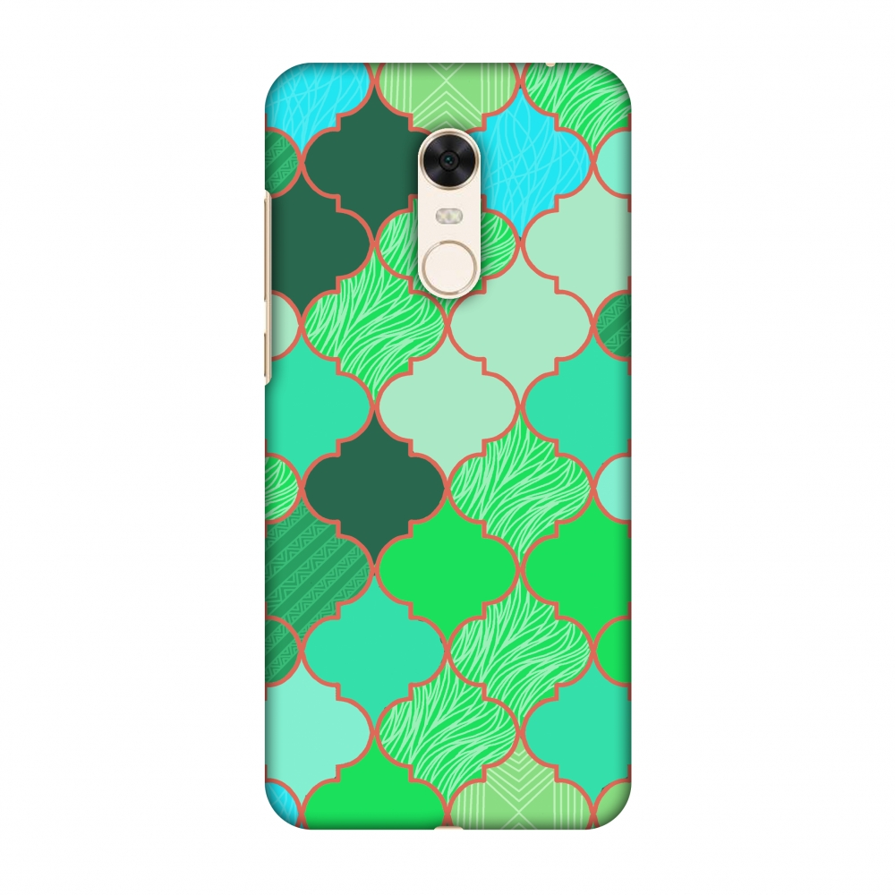 Xiaomi Redmi Note 5 Case - Stained glass- American green, Hard Plastic Back Cover, Slim Profile Cute Printed Designer Snap on Case with Screen Cleaning Kit