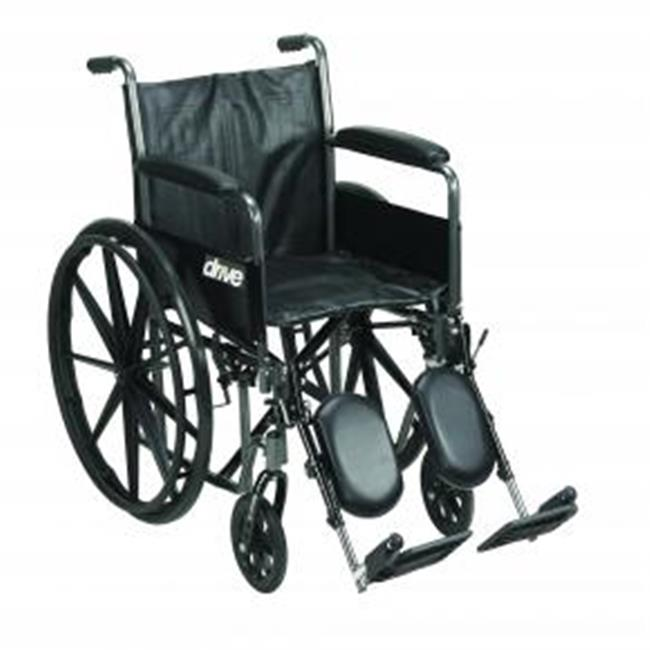 Silver Sport Reclining Wheelchair with Elevating Leg Rests, Seat - 300 lbs.
