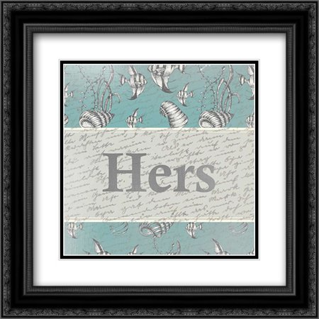 Floral Hers 2x Matted 20x20 Black Ornate Framed Art Print by Allen, Kimberly ()