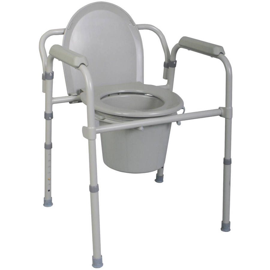 Drive Medical Bariatric Drop Arm Bedside Commode Chair - Walmart.com