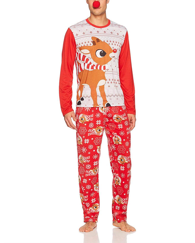 Rudolph Red Nose Family Sleep 2-Piece Pajama Set Or Footie