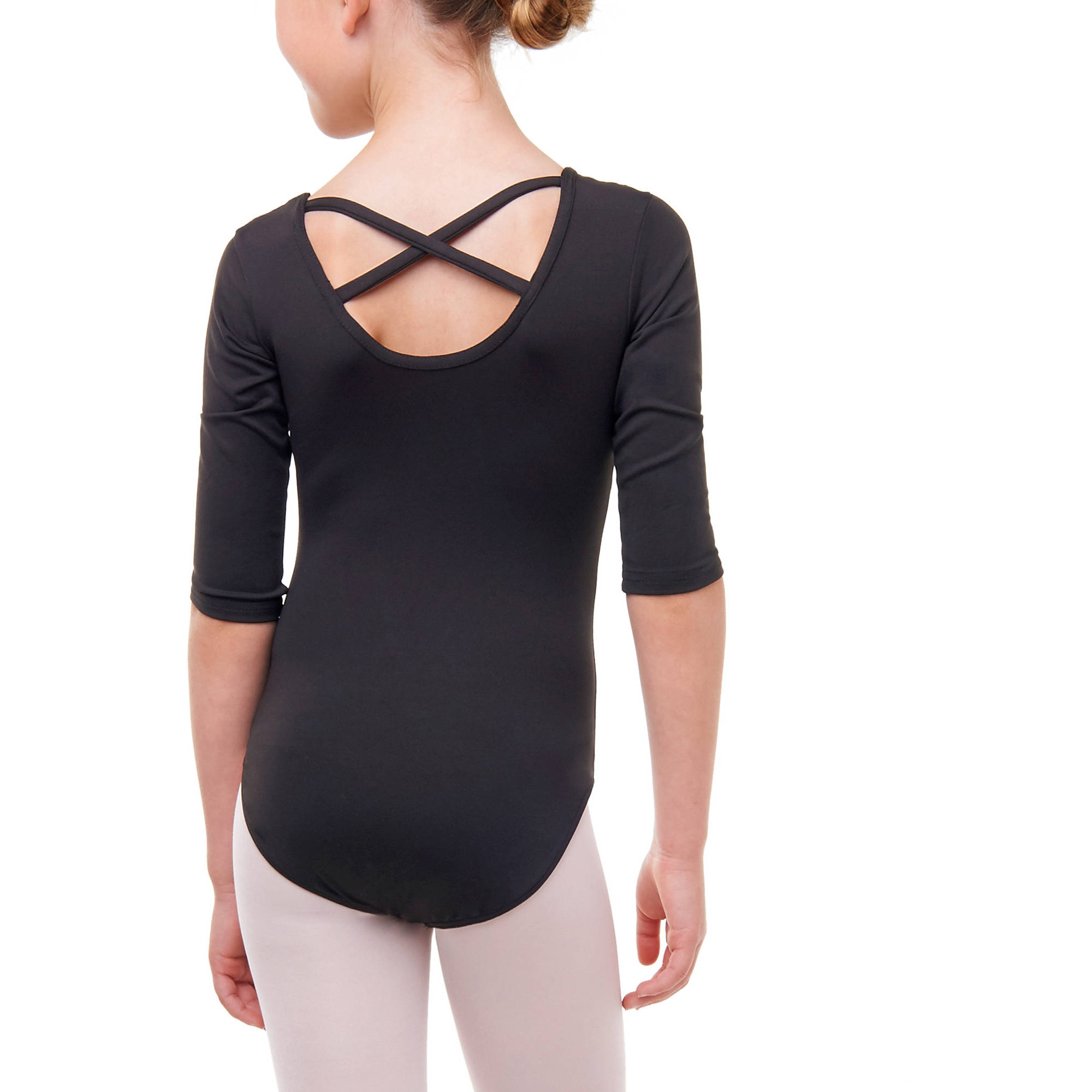 9535e53210b2 Danskin Now - Girls  3 4 Sleeve Premium Dance Leotard With Strappy ...