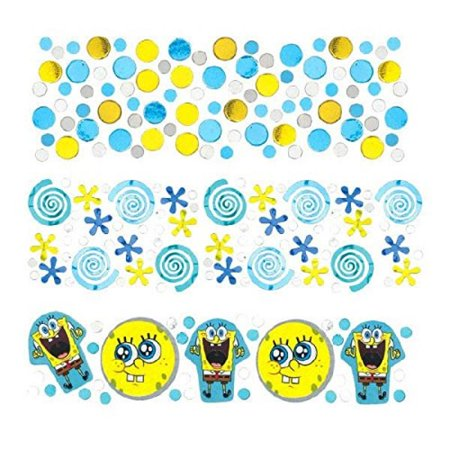 Amscan Boys Silly SpongeBob Party Confetti Mix Decoration (Pack of 1), Multicolor, 12 oz - Spongebob Party Decoration