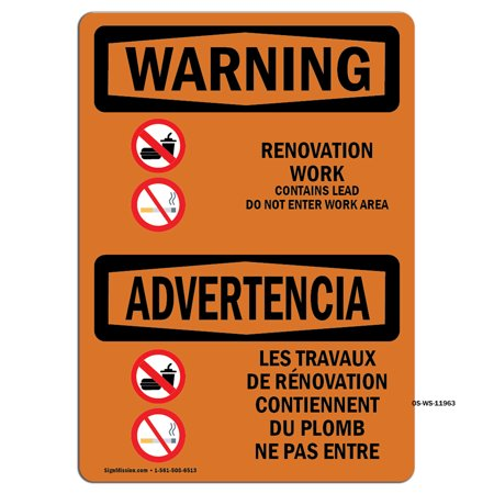OSHA WARNING Sign - International-OSHA-Construction-Sign-OWI-13027-FRENCH_1000   Choose from: Aluminum, Rigid Plastic or Vinyl Label Decal   Protect Your Business, Warehouse   Made in the USA (Obi Wan 12 Inch)